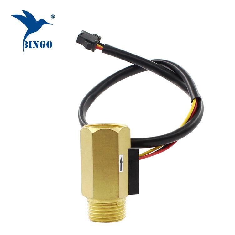Brass Hall Turbine flow sensor meter switch control